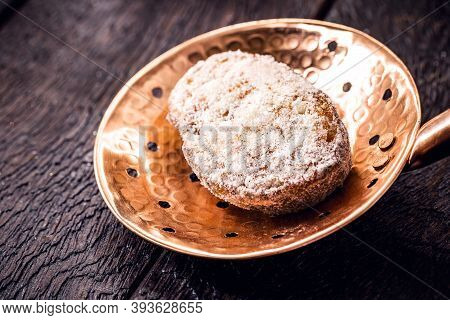 Dessert Of Fried Or Baked Bread With Sugar And Cinnamon, Known As Slice Of Gold, Slice Of Lamb, Fren