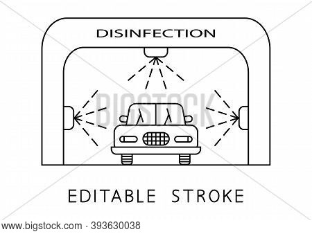 Disinfection Tunnel. Car Disinfection Services. Sanitizing Station. Sanitation Tunnel For Vehicle. D