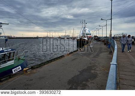 Hel, Pomerania, Poland 24 July 2020. View At Marina In Hel Town, Pomerania Province