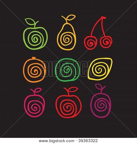 Swirly fruits