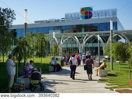 Bucharest, Romania - August 11, 2020: The New Agri-food Market Piața Sudului During The Presentation