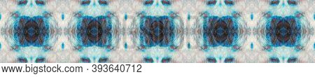 Tie Dye Background. Indigo, Black And White Textile Print. Colorful Natural Ethnic Illustration. Asi