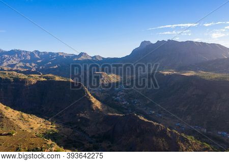 Aerial View Of Santiago Island In Cape Verde - Cabo Verde