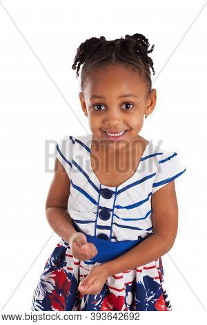 Portrait Of A Cute Little African American Girl