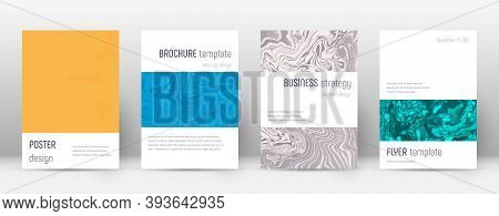 Abstract Cover. Excellent Design Template. Suminagashi Marble Minimalistic Poster. Excellent Trendy