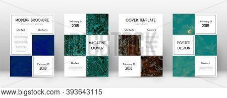 Abstract Cover. Impressive Design Template. Suminagashi Marble Business Poster. Impressive Trendy Ab