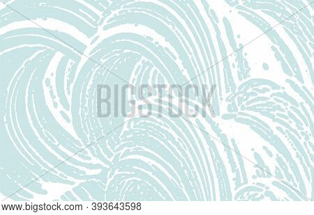 Grunge Texture. Distress Blue Rough Trace. Curious Background. Noise Dirty Grunge Texture. Extraordi