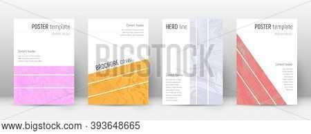 Abstract Cover. Valuable Design Template. Suminagashi Marble Geometric Poster. Valuable Trendy Abstr