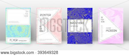 Abstract Cover. Captivating Design Template. Suminagashi Marble Stylish Poster. Captivating Trendy A