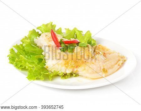 Dolly Steamed Fish Isolated With White Background