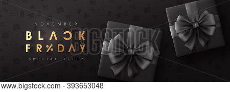 Black Friday Sale Banner Layout Design Template. Advertising Poster Design Black Friday Campaign.
