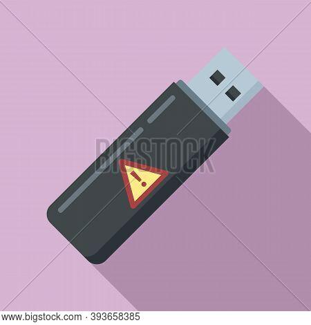 Fraud Usb Flash Icon. Flat Illustration Of Fraud Usb Flash Vector Icon For Web Design