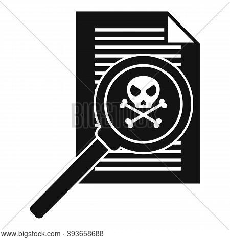 Fraud Personal Paper Icon. Simple Illustration Of Fraud Personal Paper Vector Icon For Web Design Is