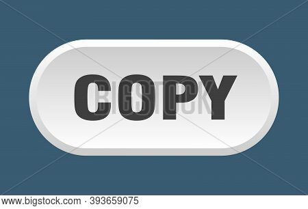 Copy Button. Copy Rounded White Sign. Copy