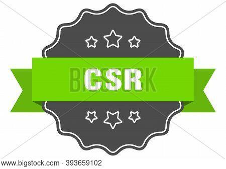 Csr Label. Csr Isolated Seal. Sticker. Sign