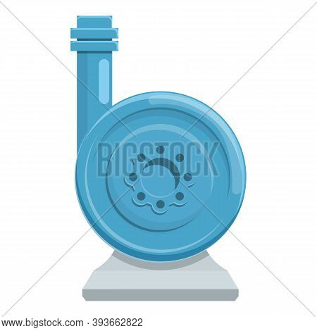 Steel Water Pump Icon. Cartoon Of Steel Water Pump Vector Icon For Web Design Isolated On White Back