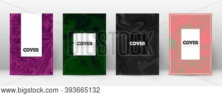 Abstract Cover. Fantastic Design Template. Suminagashi Marble Hipster Poster. Fantastic Trendy Abstr