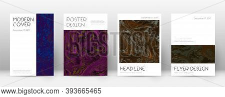 Abstract Cover. Sightly Design Template. Suminagashi Marble Minimal Poster. Sightly Trendy Abstract