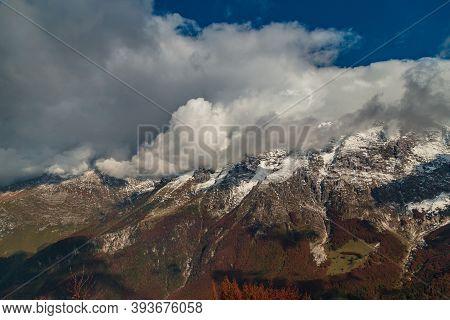 Trekking Surrounded By The Foliage In Friuli-venezia Giulia