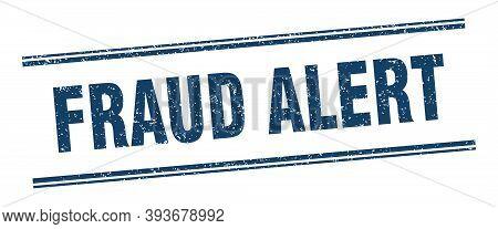 Fraud Alert Stamp. Fraud Alert Label. Square Grunge Sign