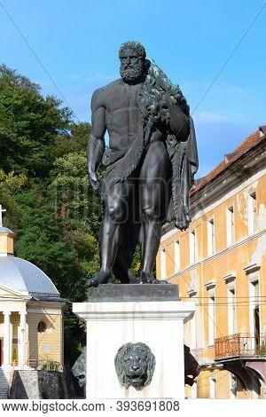 Baile Herculane City Romania Legendary Hercules Statue Monument