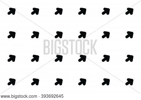 Set Of Black And White Abstract Vector Arrow Patterns