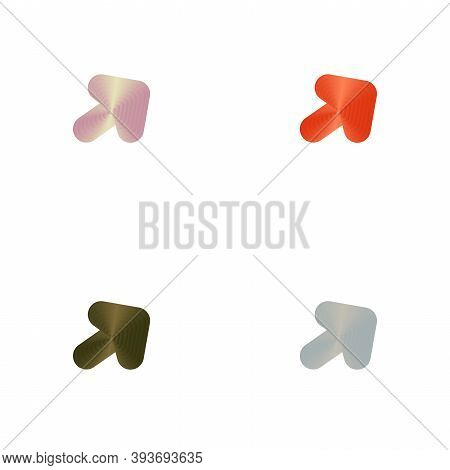 Set Of Colorful Abstract Vector Arrow Patterns