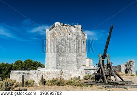 Homage Tower Of The Castle Of Iscar In Valladolid, Built At The End Of The 13th Century, Currently H