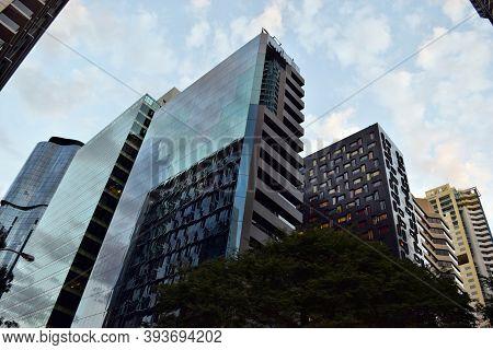 Modern Skyscrapers, Buildings In City Centrum Brisbane