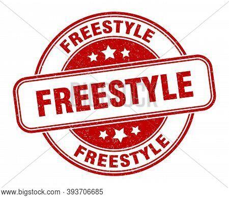 Freestyle Stamp. Freestyle Round Grunge Sign. Label