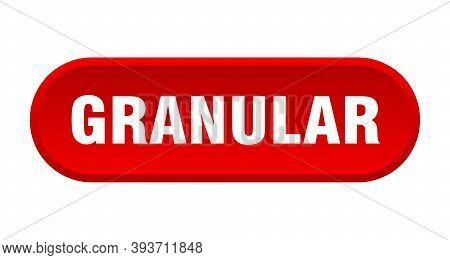 Granular Button. Rounded Sign On White Background