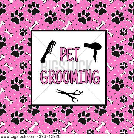 Grooming Salon Dogs Logo, Banner, Vector Illustration