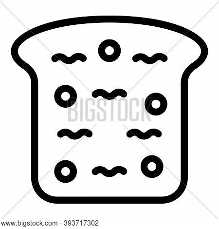 Slice Bread Icon. Outline Slice Bread Vector Icon For Web Design Isolated On White Background