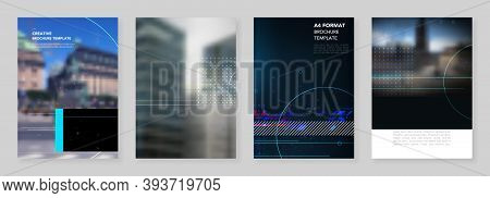 A4 Brochure Layout Of Covers Design Templates For Trendy Technology Design Modern Electro Music Flye