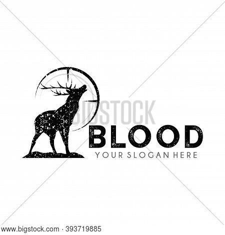 Logo Design For Deer Hunter Club, Vintage Hunter Logo Design Vector Template