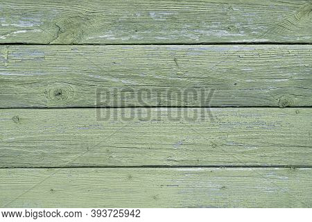 Green Board Background. Wooden Background. Copy Space. Old Green Boards. Retro, Vintage, Rustic. Bul