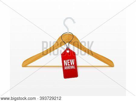 New Arrival. Information Poster Brochure. Promotion Sign. Banner Promotion. Sticker Design. Announce