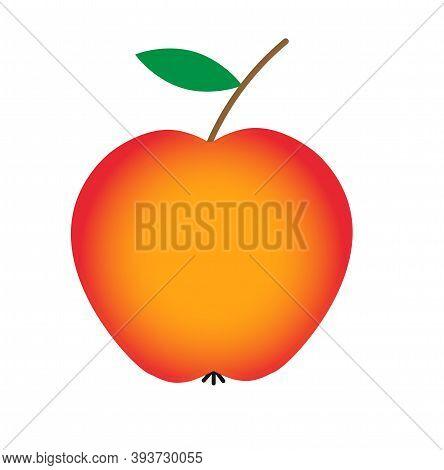 Reddish Apple Fruit. Healthy Food. Vector Graphics