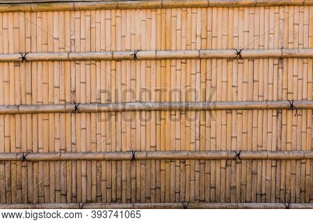Bamboo Fence Wall Texture For Background Resource