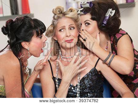 Ladies Gossiping In Salon