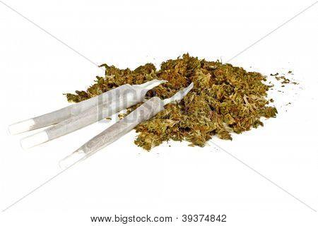 Marihuana joints with marihuana