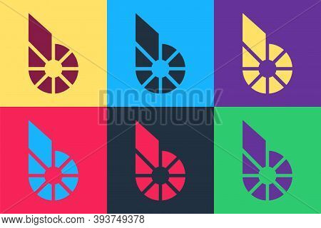 Pop Art Cryptocurrency Coin Bitshares Bts Icon Isolated On Color Background. Physical Bit Coin. Digi
