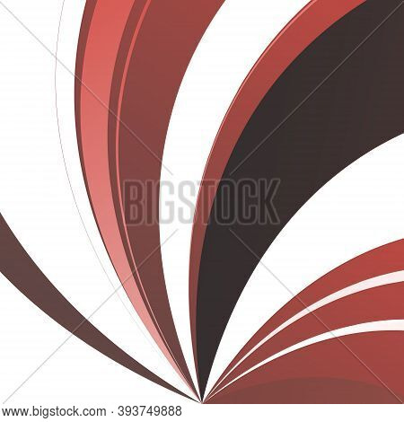 Stripes And Lines Of Different Shapes And Widths On A White Background