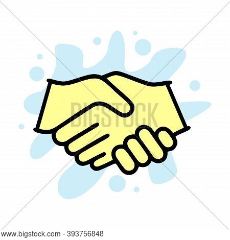 Gesture Handshake Icon. Outline Gesture Handshake Vector Icon For Web Design Isolated On White Backg