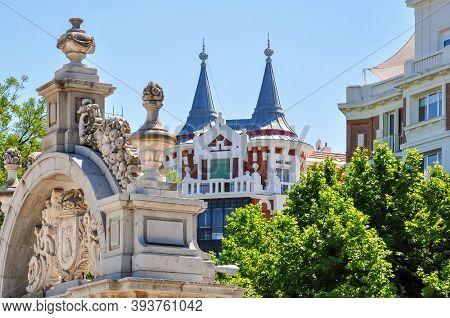 Madrid Architecture Near Buen Retiro Park, Spain