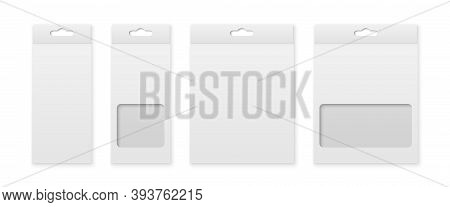Vector 3d Realistic Blank Paper White Product Package Box For Pencils, Pens, Crayons, Felt-tip Pens