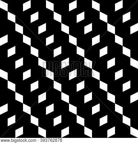 Geometric Background. Seamless Pattern. Rhombuses Ornament. Diamonds Backdrop. Lozenges Wallpaper. E