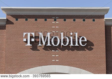 Indianapolis - Circa November 2020: T-mobile Retail Wireless Store. T-mobile Merged With Sprint In H