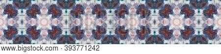 Seamless Tie Dye Pattern. Rainbow Natural Ethnic Illustration. Tribal Backdrop.  Indigo And Black Te
