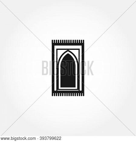 Carpet For Namaz Flat Illustration. Mat For Prayer. Arabic Carpet Icon. Isolated Design Element
